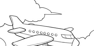 airplane coloring page - thumbnail