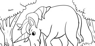 cute unicorn coloring page - thumbnail ver 1
